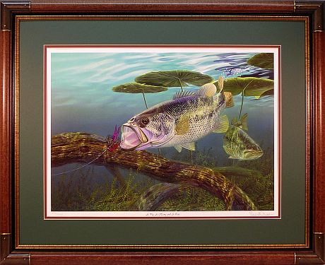"""A Pig, A Hawg and A Log"" by fish artist Randy McGovern"