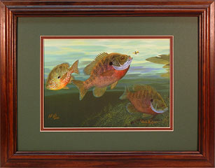 """Bluegills"" by fish artist Randy McGovern."