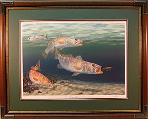 """Chasing the Dream"" by fish artist Randy McGovern"