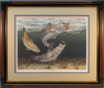 """Doubling Up"" - Speckled Trout and Redfish by artist Randy McGovern"