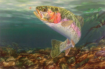 """End of the Rainbow"" by fish artist Randy McGovern"