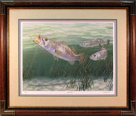 """Fast Lane"" - Speckled Trout by artist Randy McGovern"