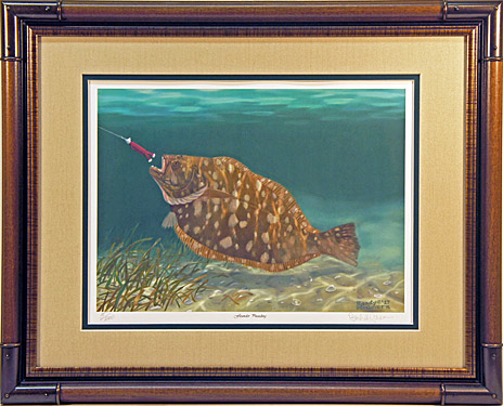 """Flounder Pounding"" - Flounder by artist Randy McGovern"