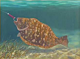 """Gold Rush"" by fish artist Randy McGovern"