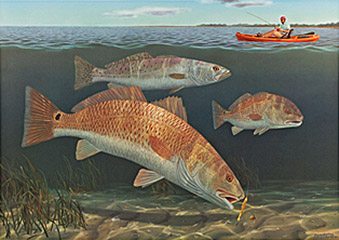 """""""Fool's Gold"""" by fish artist Randy McGovern"""