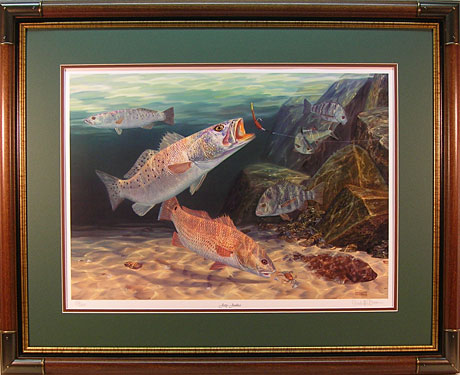 """Jetty Junkies"" by fish artist Randy McGovern"