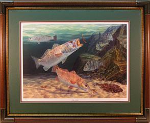 """Jetty Junkies"" by fish artist Randy McGovern"