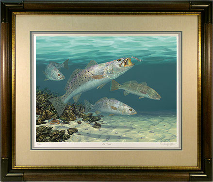 """Old School"" - Speckled Trout by artist Randy McGovern"