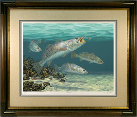"""Old School"" by fish artist Randy McGovern"