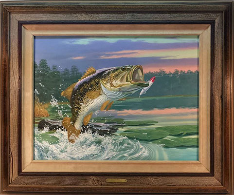 """Open For Business"" - Largemouth Bass by wildlife artist Randy McGovern"