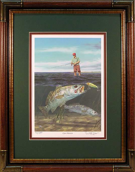 "quot;Open Invitation"" - Speckled Trout by artist Randy McGovern"