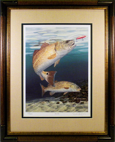 "quot;Red Hot"" - Redfish by fish artist Randy McGovern"