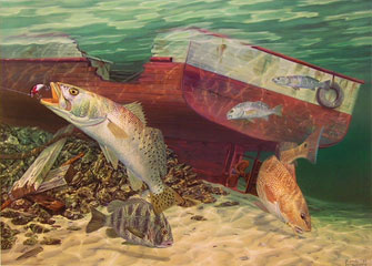 """Remnants and Rebels"" by fish artist Randy McGovern"