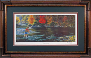 """Rolling On A River"" by fish artist Randy McGovern"