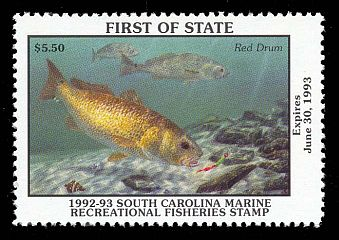 South Carolina Saltwater Fishing Stamp by Randy McGovern