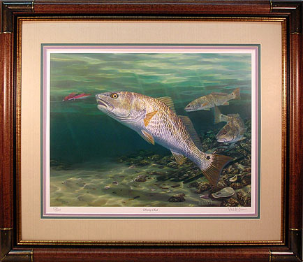 """Seeing Red"" - Redfish by fish artist Randy McGovern"