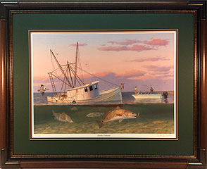"""Shrimpers"" by fish artist Randy McGovern"