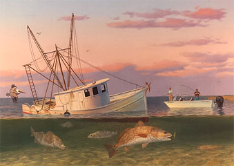 """Shallow Individuals"" by fish artist Randy McGovern"