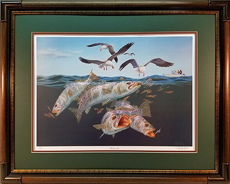 """Shrimp Fest"" by fish artist Randy McGovern"