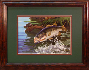 """Splash Dance"" - Largemouth Bass by fish artist Randy McGovern"