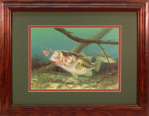 """Unhappy Camper"" - Largemouth Bass by fish artist Randy McGovern"