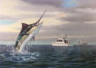 """Uprising"" by fish artist Randy McGovern"
