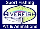 Riverfish Sport Fishing Art and Animation